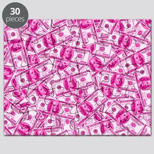 Pink Hundred Dollar Bill Pattern Puzzle