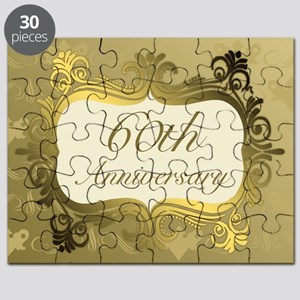 Fancy 60th Wedding Anniversary Puzzle