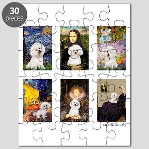 Famous Art Bichon (clr) Puzzle