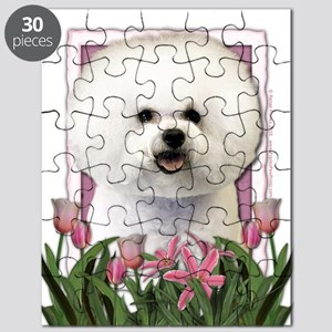 Mothers Day Pink Tulips Afghan Puzzle