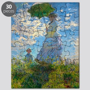 Woman with A Parasol by Claude Monet Puzzle