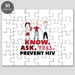 Know.Ask.Tell.Prevent HIV Puzzle