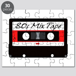 80s Music Mix Tape Cassette Puzzle
