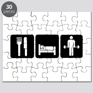 Man Eat Sleep Lift Weights Puzzle