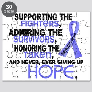 D Prostate Cancer Supporting Admiring Honor Puzzle