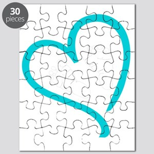 Baby Feet Heart Blue Puzzle