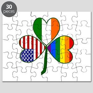 Gay Pride Shamrock Puzzle