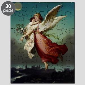 Guardian Angel by Wilhelm Von Kaulbach Puzzle