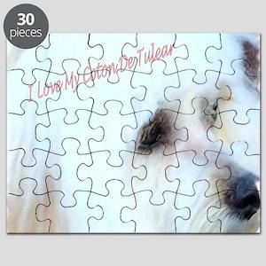 I Love My Coton De Tulear  Puzzle