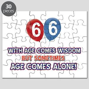 Funny 66 wisdom saying birthday Puzzle