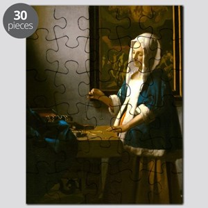 Woman Holding a Balance by Johannes Vermeer Puzzle