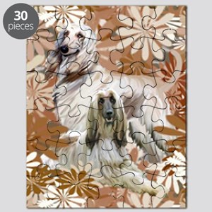 Afghan Hound Floral Puzzle