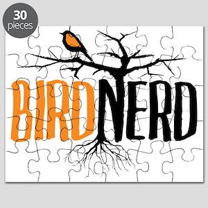 Bird Nerd (Black and Orange) Puzzle