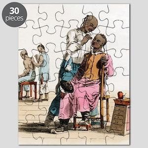 Chinese acupuncture, artwork Puzzle