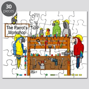 The Parrot's Workshop Logo Puzzle