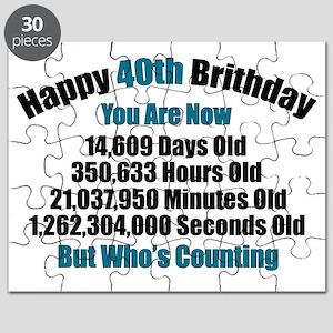 40th Birthday T-shirt Puzzle