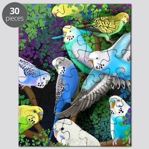 Budgerigars in Ferns Puzzle