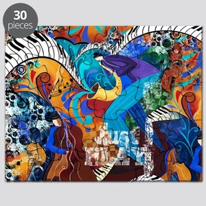 Just Play Saxophone Player Jazz Piano Music Puzzle