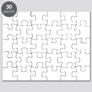 Girl Loves Mustache Puzzle