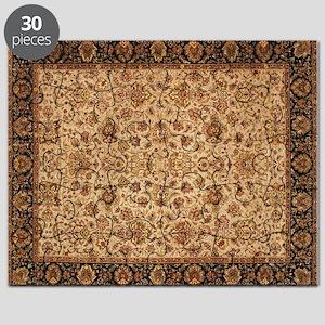 Persian Rug Geometric Tan Puzzle