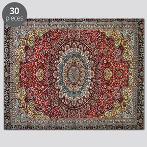 Persian Rug Red and Blue Puzzle