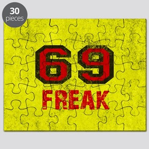 69 FREAK red black yellow vintage Puzzle