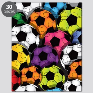 Colorful Soccer Balls Puzzle