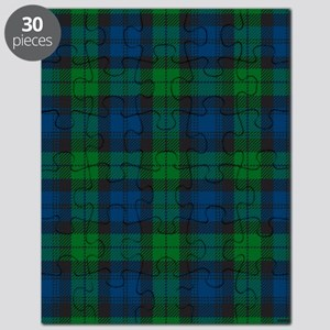 Black Watch Tartan Plaid Puzzle