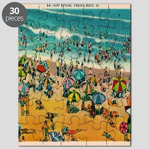 Vintage Virginia Beach Postcard Puzzle