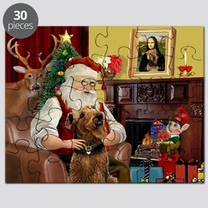 Santa and his Airedale Puzzle