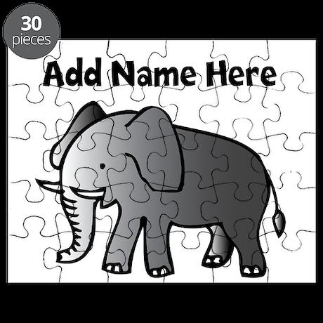 Personalized Elephant Puzzle