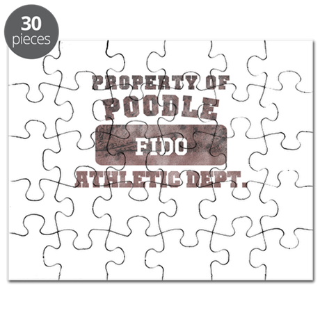 Personalized Property of Poodle Puzzle