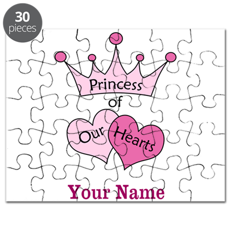 Princess of our Hearts - Personalized! Puzzle