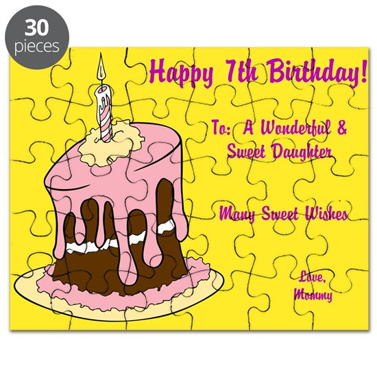 Happy 7th Birthday Card Puzzle From Mommy By Prettylittleweddings