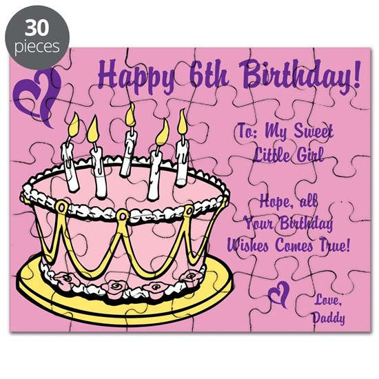 Happy 6th Birthday Card From Daddy
