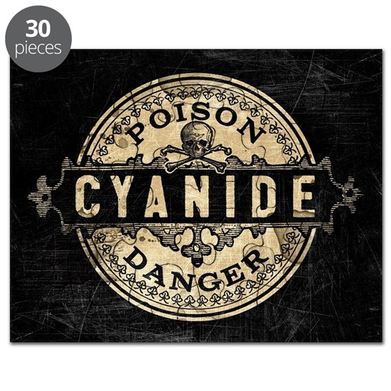 Vintage Style Cyanide Puzzle by MissThree - CafePress