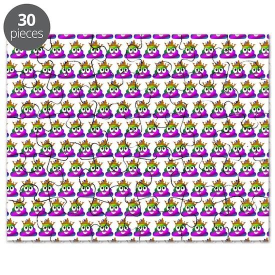 Princess Crown Rainbow Emoji Poop Puzzle