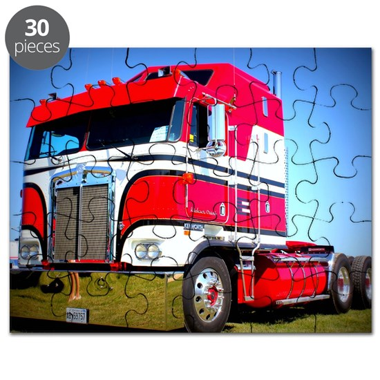 1985 Kenworth Cabover K100 Puzzle by Smart_Trucking - CafePress