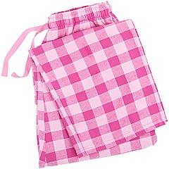 Image of Pink Plaid Pajama Bottom
