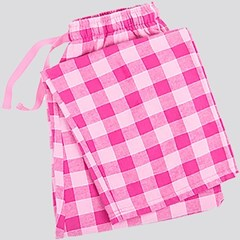 Image of Pink Plaid Pajama Bottom