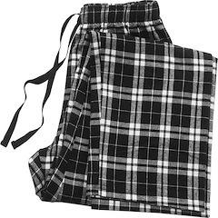 Image of Black Plaid Pajama Bottom
