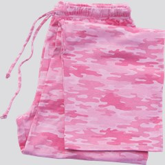 Image of Pink Camo Pajama Bottom