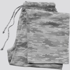 Image of Pajama Bottom Gray Camo
