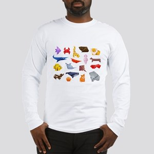 Origami Animals Long Sleeve T-Shirt