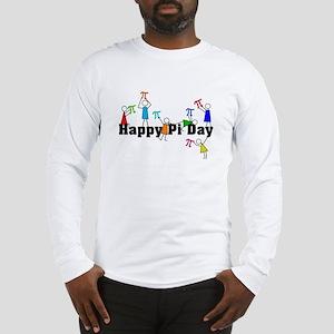 09e22d3c Pi Day Stick People Long Sleeve T-Shirt