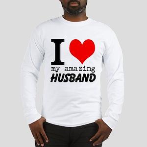 I heart my Amazing Husband Long Sleeve T-Shirt