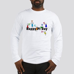 Pi Day Stick People Long Sleeve T-Shirt