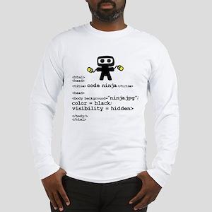I code like a ninja Long Sleeve T-Shirt