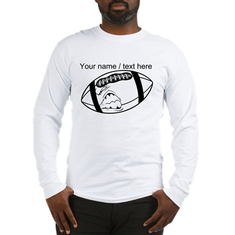 Custom cartoon football long sleeve t shirt by for Long sleeve custom t shirts