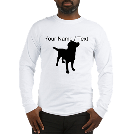 Custom Dog Silhouette Long Sleeve T-Shirt